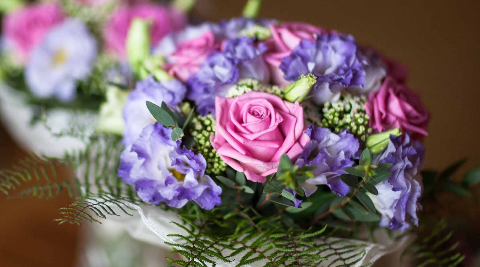 Purple and pink bouquet.